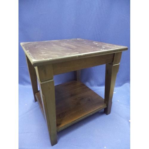 Ikea Markor Brown Wood Side Table 21.5 X 21.5 X 21.75 In