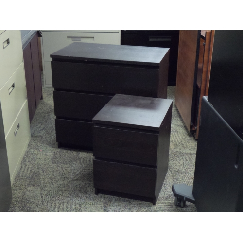 Ikea malm espresso 3 drawer dresser and bed side table set - Malm dressing table drawer organizer ...