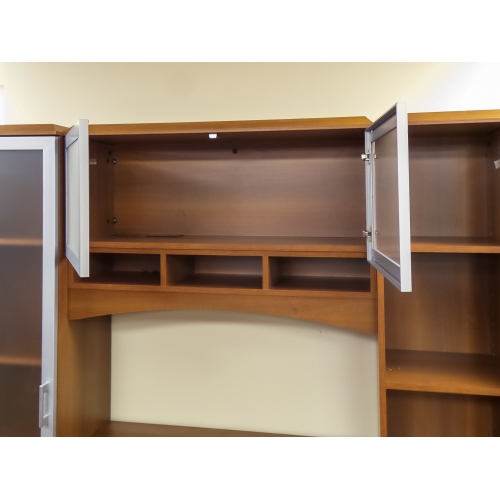 Autumn Maple 4 Door Credenza And Hutch Wall Unit Allsold