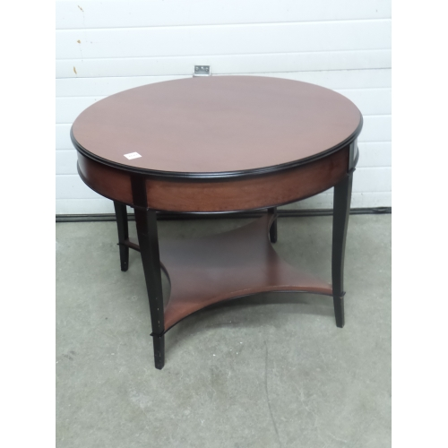 Cherry 36 In Round Side End Coffee Table W Black Trim Buy Sell Used Office