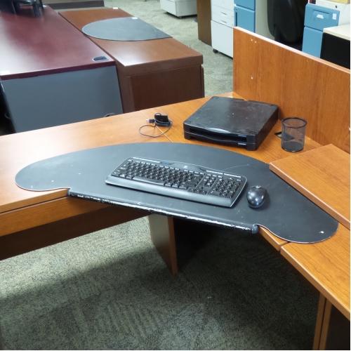 Black Metal Corner Desk Keyboard Extender - Allsold.ca ...