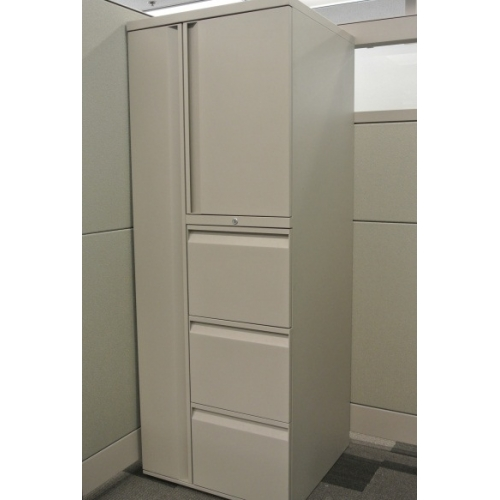 Teknion Tan Personal Storage Tower W Wardrobe Storage