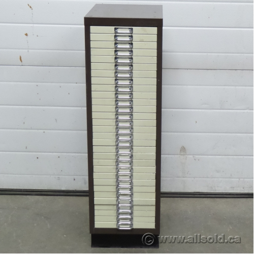 brown and beige paper storage file cabinet 30 drawers