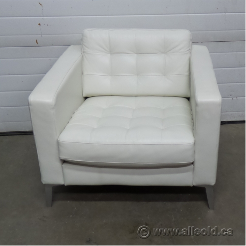 Ikea Landskrona White Leather Reception Lounge Chair Buy