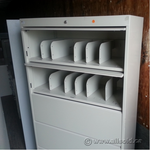 Tab Tan 5 Drawer Lateral File Cabinet Locking Allsold