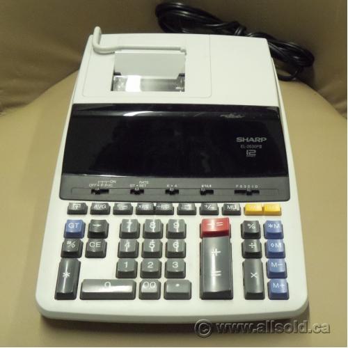 sharp 10 key adding machine