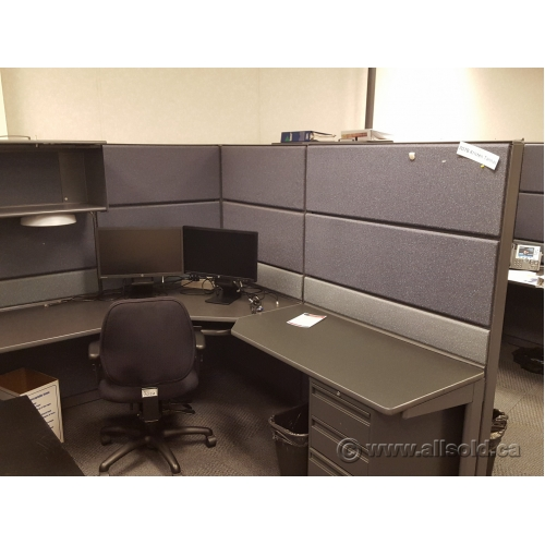 Teknion Systems Furniture Workstation Cubicles Grey Tones Buy Sell Used Office