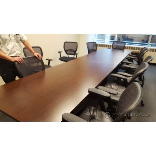 Brown 12 ft board room conference meeting table allsold for 12 foot conference room table