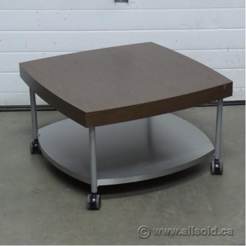 Marble Coffee Table Kijiji Calgary: Walnut & Brushed Steel Reception Area Coffee Table, 30 X