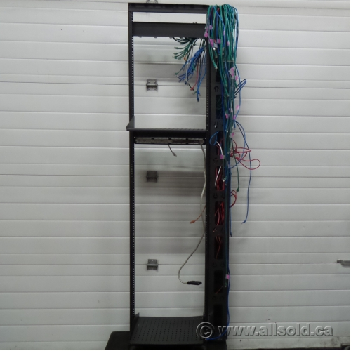 Leviton Black 2 Post 2 Shelf Server Telco Rack 84 X 23 X