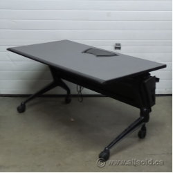 Vecta Grey Rolling Nesting Training Table With