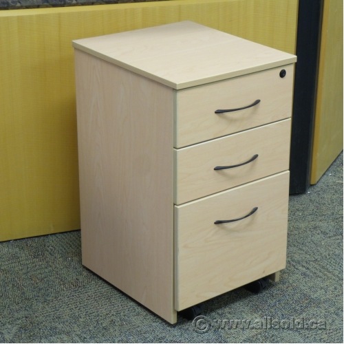 Blonde 3 Drawer Box Box File Rolling Pedestal Allsold Ca