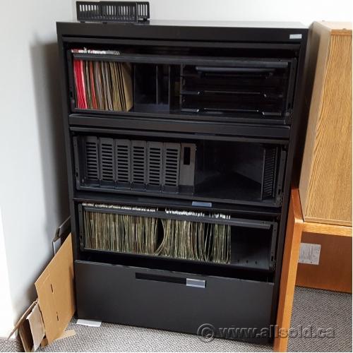 Black 4 Drawer Flip Front Lateral File Cabinet Allsold