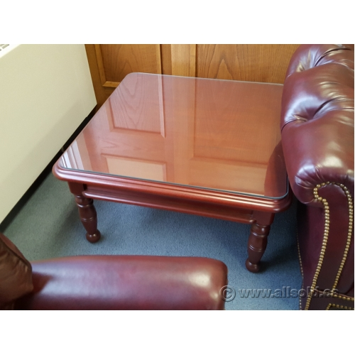 Vintage Maple Coffee Table: Set Of Vintage Medium Maple Coffee And End Tables With