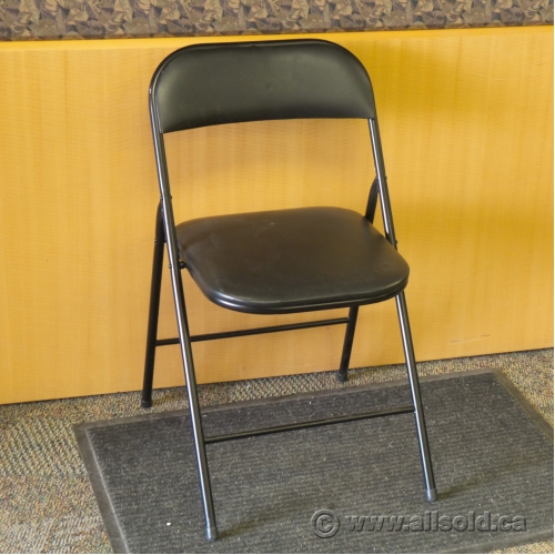Black Folding Chair with Padded Seat and Back Allsold Buy & Sell U