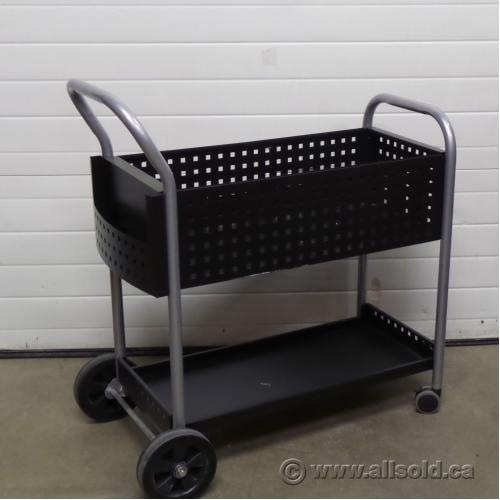 Black Metal Rolling Mail File Cart Allsold Ca Buy
