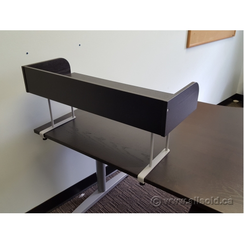 espresso desk riser shelf clamp on monitor stand buy sell used office furniture. Black Bedroom Furniture Sets. Home Design Ideas