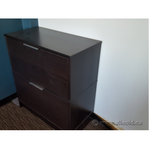Ikea effektiv espresso 2 drawer lateral file cabinet for Lateral filing cabinet ikea