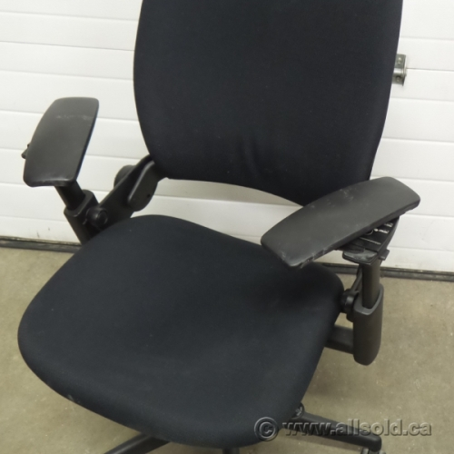 Steelcase leap v2 black adjustable ergonomic task chair w - Steelcase leap ergonomic office chair ...