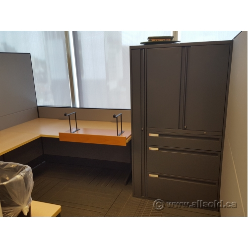 Teknion Grey Blonde Systems Furniture Cubicles Work Stations Buy Sell Used
