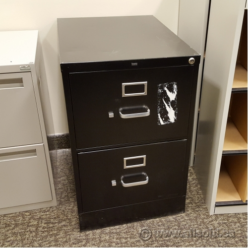 Hon Black 2 Drawer Legal Size Vertical File Cabinet