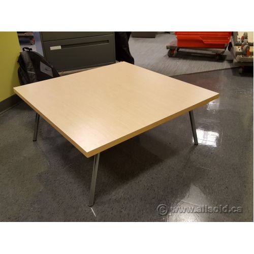 Birch And Chrome 36 Square Reception Coffee Table Buy Sell Used Office