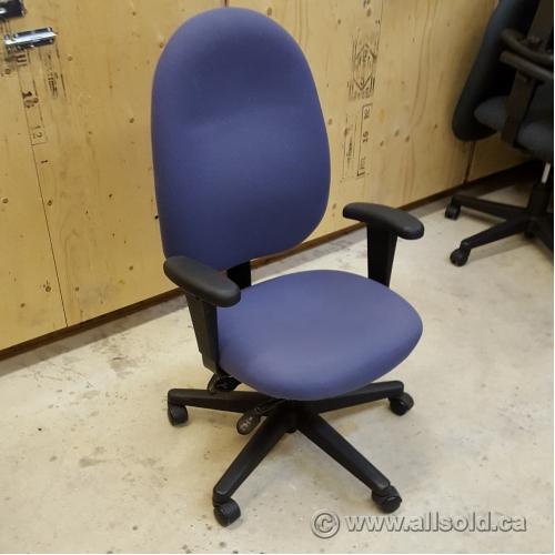 Purple Adjustable Ergonomic Rolling Task Chair Allsold