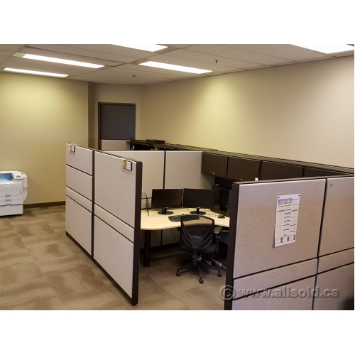 Teknion Systems Panel Cubicle Wall Tan Buy Sell Used Office Furniture Calgary