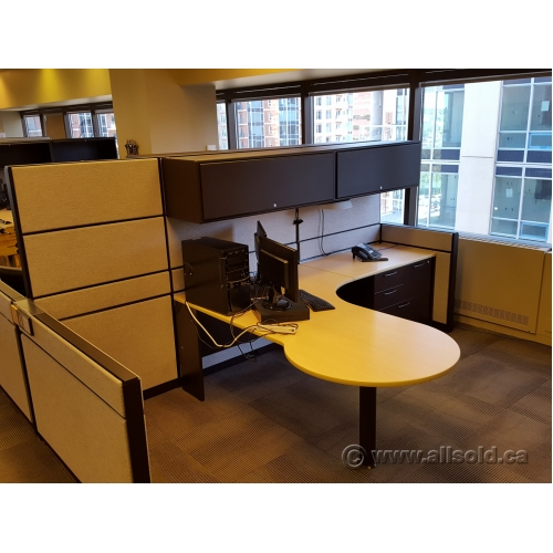 Teknion Systems Furniture Workstation Cubicles Blonde Tan Buy Sell Used Office