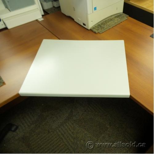 White Metal Corner Connector Sleeve Desk Extender