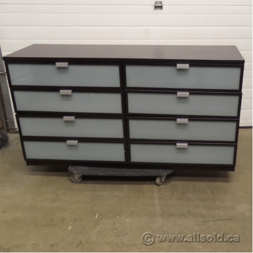 ikea hopen 8 drawer espresso dresser chest of drawers buy sell used office. Black Bedroom Furniture Sets. Home Design Ideas