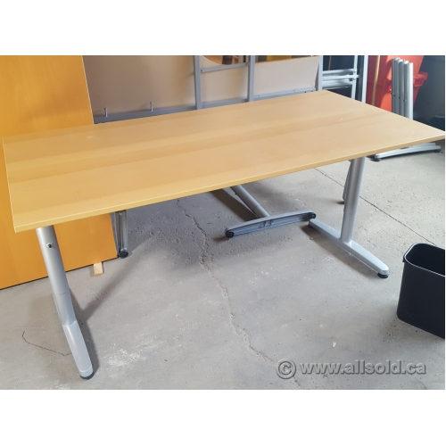 Ikea galant 60 training table desk blonde honey for Ikea table 100 x 60
