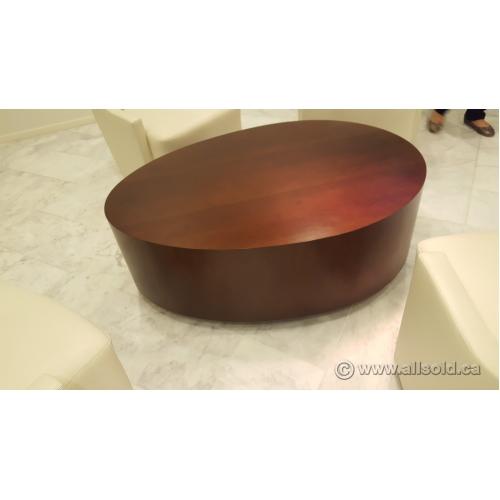 HBF Oval Egg Series Walnut Coffee Table