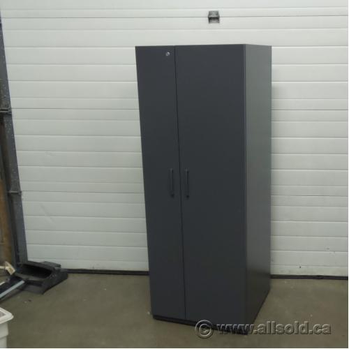 Used Kitchen Cabinets Calgary: Grey 2 Door Teknion Wardrobe Storage Cabinet
