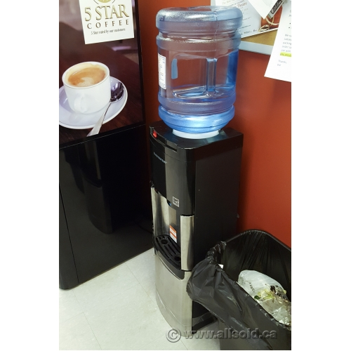 Viva Self Cleaning Black And Stainless Steel Water Cooler