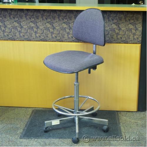 Violet rolling adjustable drafting stool - Drafting stool ikea ...