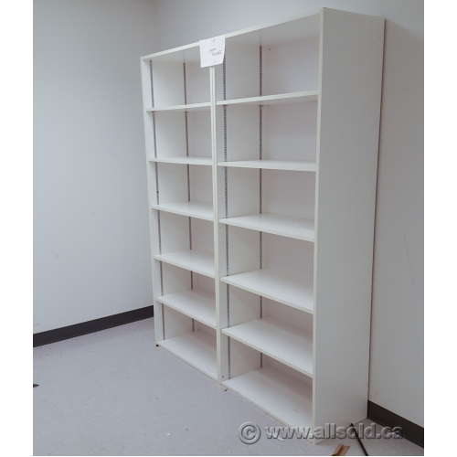 White 6 Shelf Bookcase With Fully Adjustable Shelves