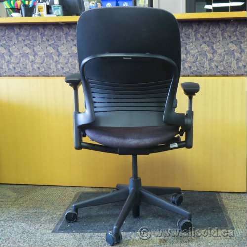 Steelcase leap v2 purple adjustable ergonomic task chair w - Steelcase leap ergonomic office chair ...