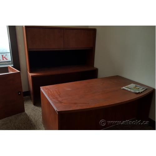 Autumn Maple Series 600 U C Suite Bow Front Desk
