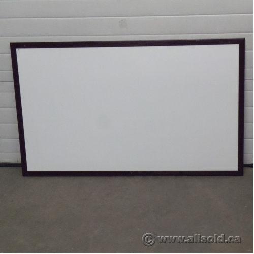 60 x 36 melamine whiteboard w wood frame buy sell used office furniture calgary. Black Bedroom Furniture Sets. Home Design Ideas