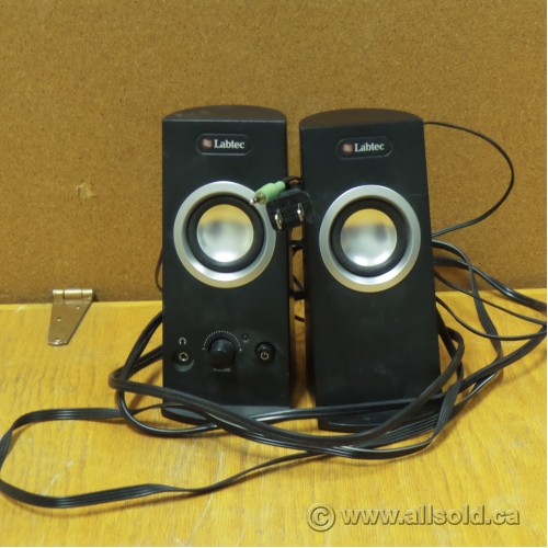 labtec spin 95 speakers for pc wired series buy sell used office. Black Bedroom Furniture Sets. Home Design Ideas