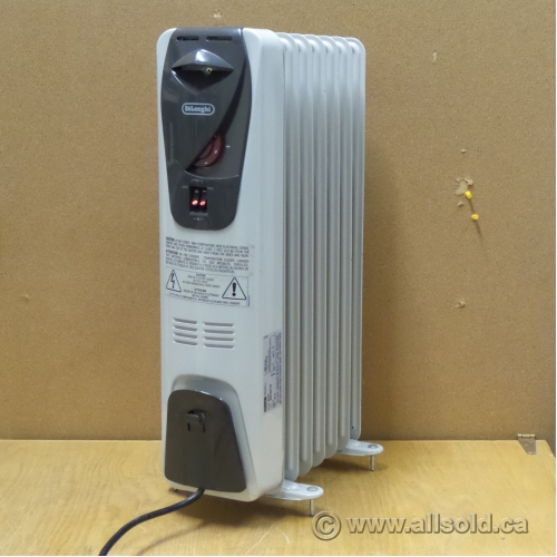 White Portable Delonghi Radiant Space Heater Allsold Ca