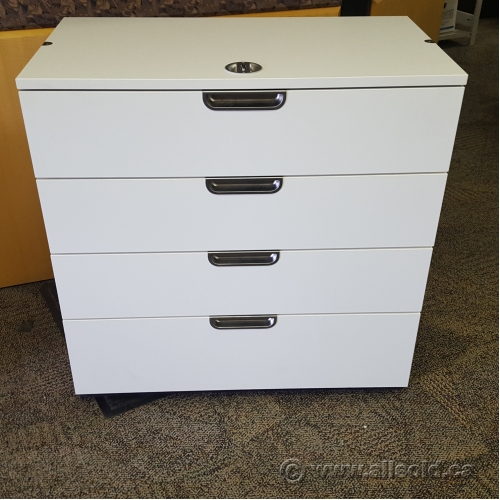 Used Kitchen Cabinets Calgary: White Ikea Gallant 4 Drawer Storage Cabinet