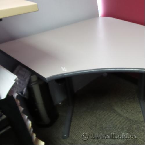 Teknion Sit Stand Height Adjustable Corner Desk Allsold