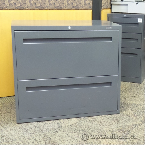 Teknion Grey 30 Quot 2 Drawer Lateral File Cabinet Locking