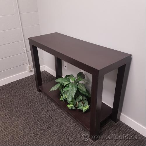 espresso dark wood sofa table buy sell used office furniture calgary. Black Bedroom Furniture Sets. Home Design Ideas