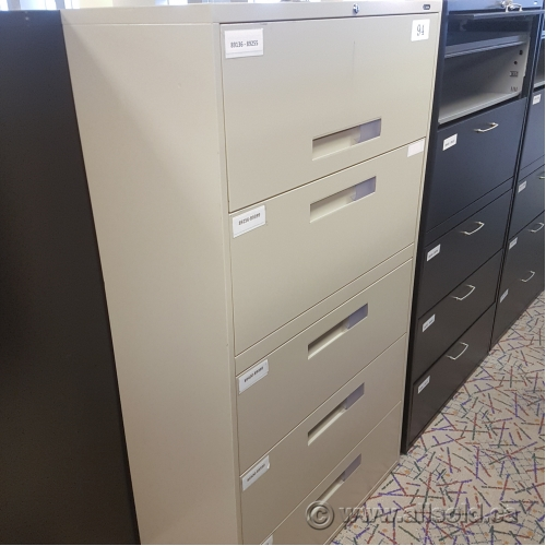 Used Kitchen Cabinets Calgary: Beige Global 5 Drawer File Cabinet