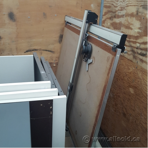 Drawing Arm Lifts : Drafting art drawing table drawers mechanical tilt