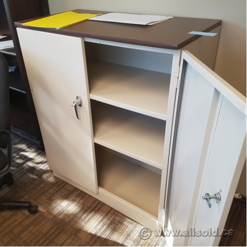 Used Kitchen Cabinets Calgary: Beige 2 Door Metal Locking Storage Cabinet