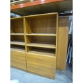 "Artopex Bookshelf, File Unit Mid Tone Wood, 36'' x 6' (72"") tall"